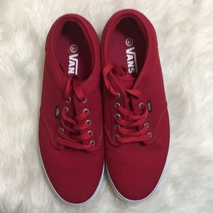 Red Authentic Vans. Size 13